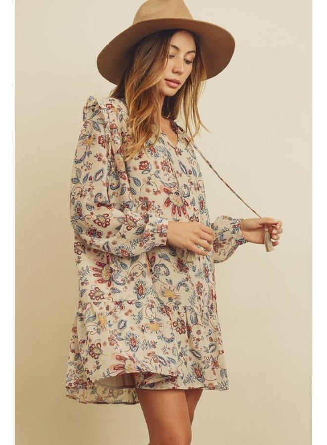 Paisley Floral Boho Dress