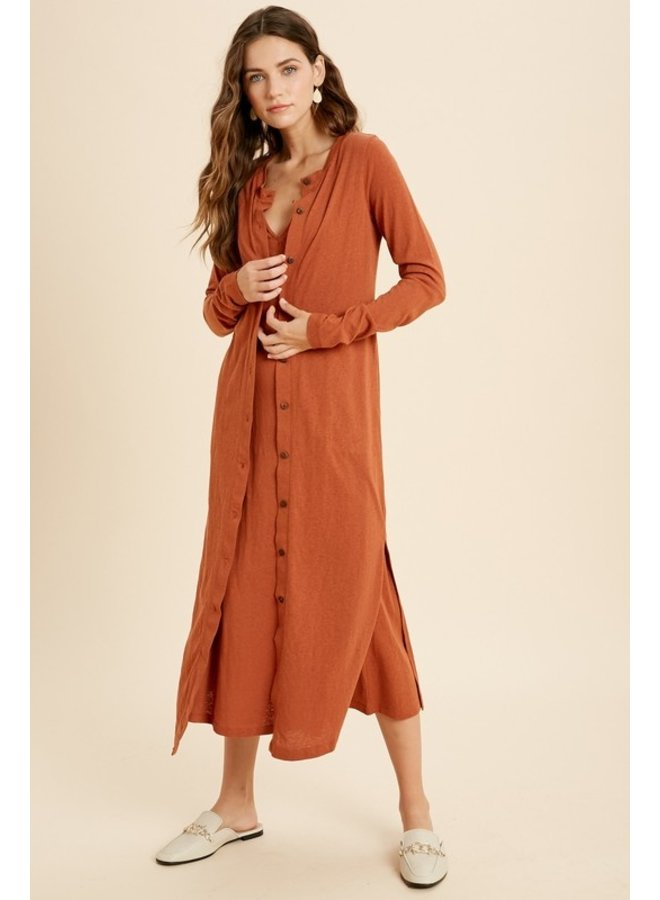 Knit Midi and Cardigan Set