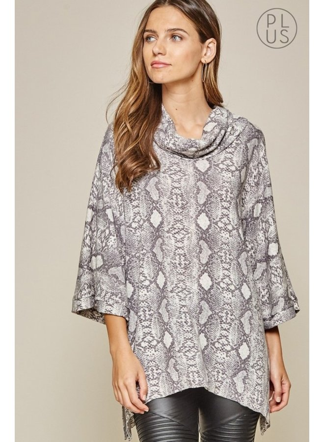 Snake Cowl Neck Tunic