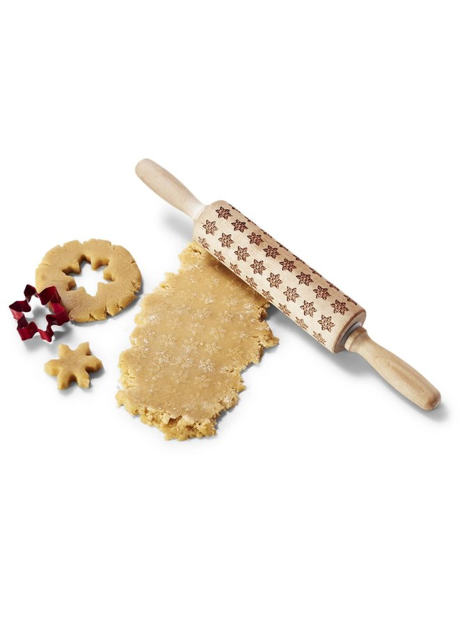 Pattern Rolling Pin & Cookie Cutter