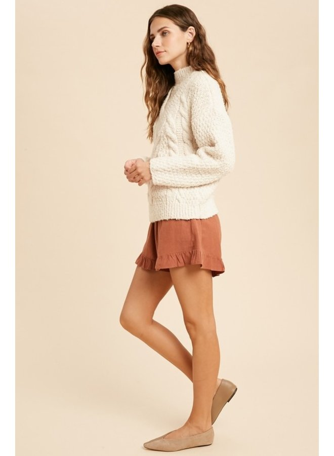 Turtleneck Cable Sweater