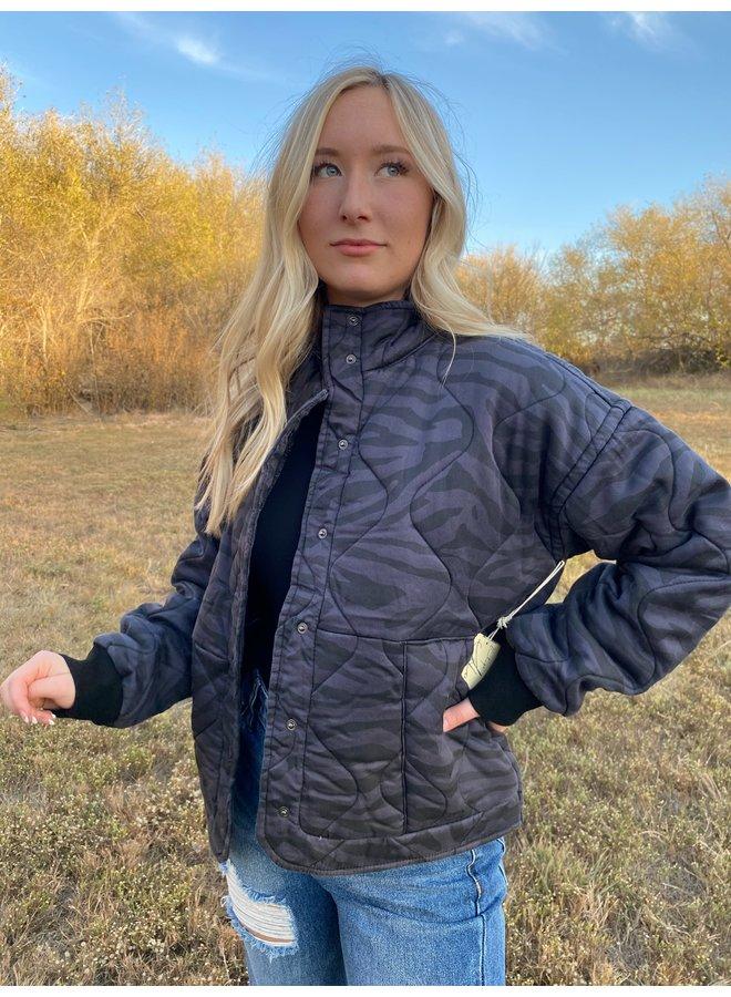 Zebra Quilted Jacket