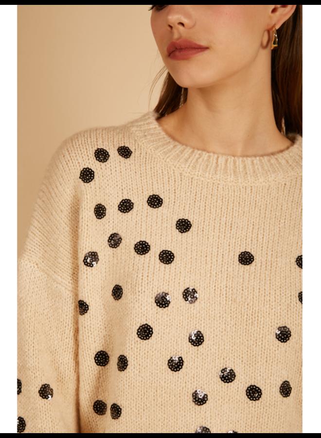 Sequin Dot Sweater