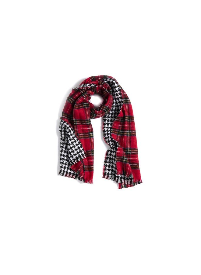 Reversible Plaid Scarf