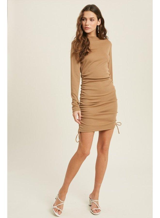 Ruched Bodycon Mini Dress