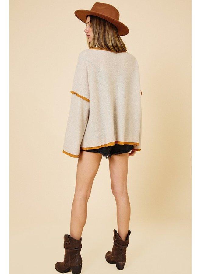 Raw Edge Detail Sweater
