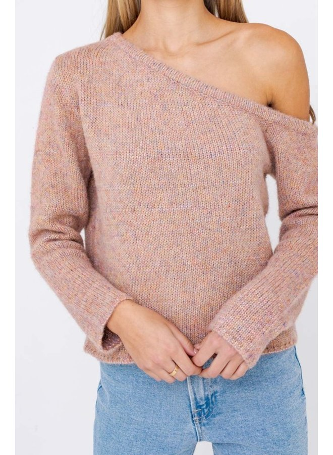 One Shoulder Knit Sweater