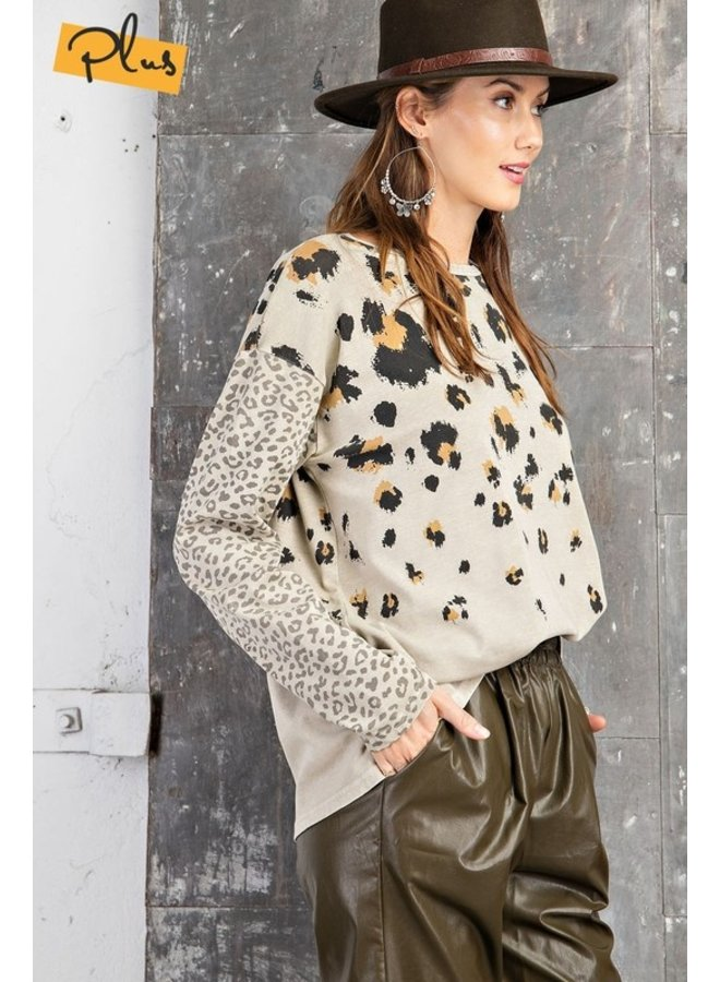 Mixed Leopard Top