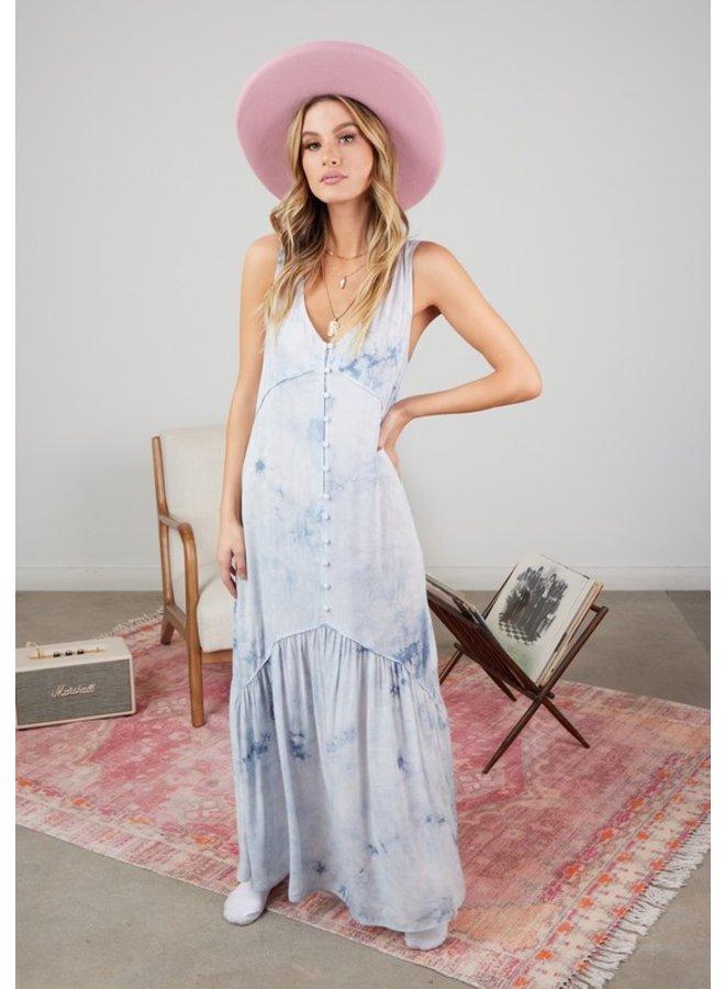 Tie Dye Sleeveless Maxi Dress