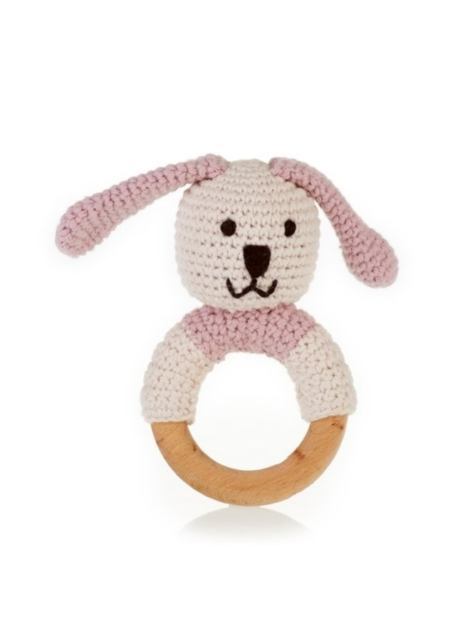 Wooden Teething Bunny Ring