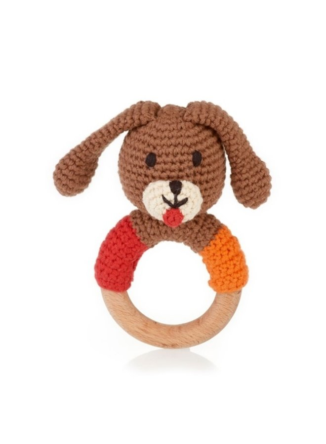Wooden Teething Dog Ring