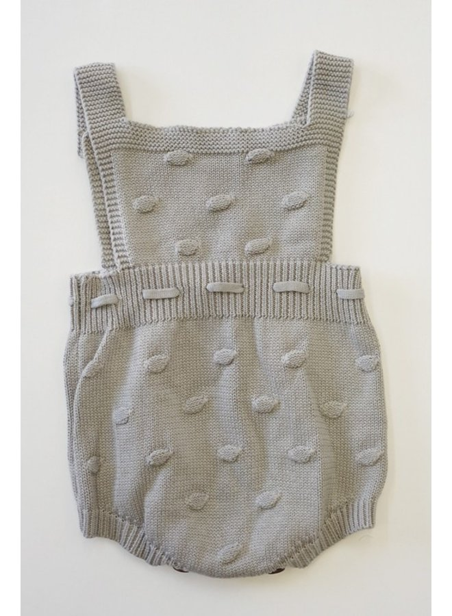 Grey Dotted Knit Romper