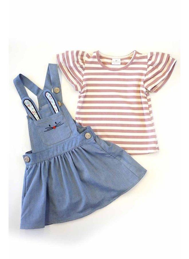 2-Piece Denim Dress Set