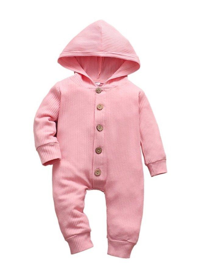 Pink Hoodie Romper