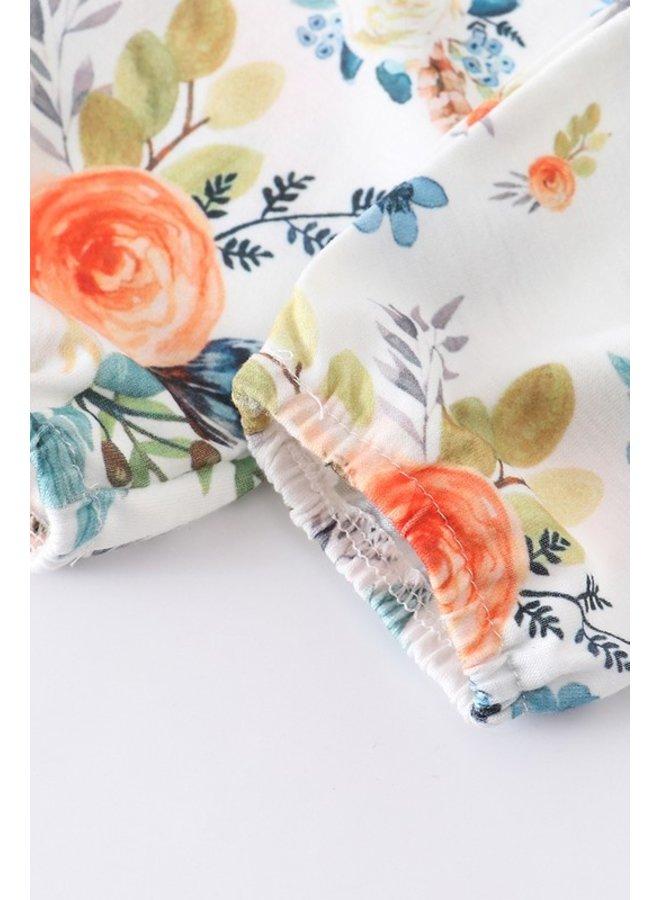 Green 3-Piece Floral Ruffle Set