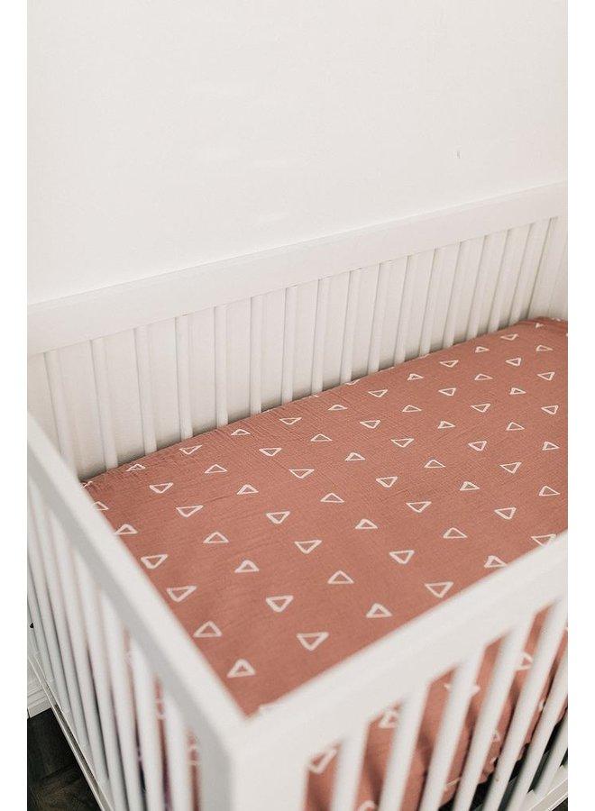 Blush Triangle Crib Sheet