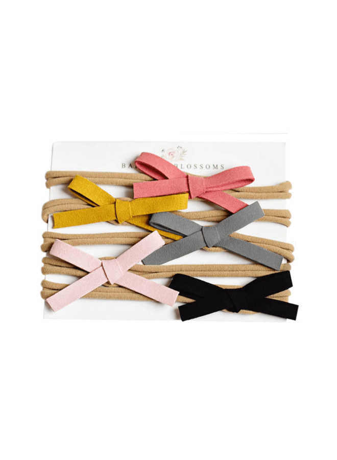 Set of 5 Leather Bows