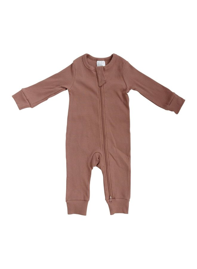 Organic Cotton Ribbed Footless One-Piece
