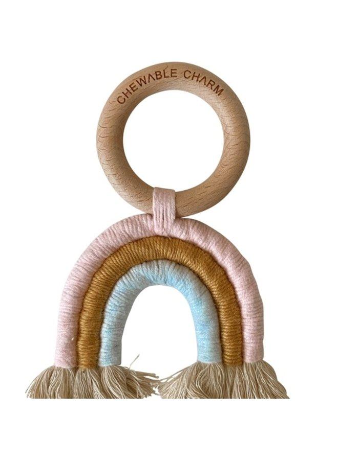 Rainbow Macrame Teether