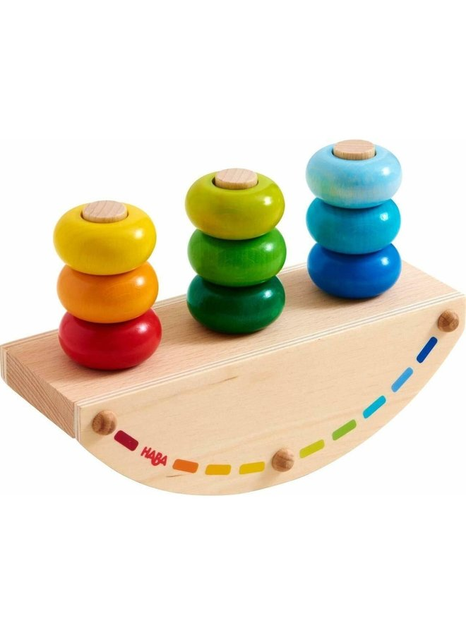 Rocking Rainbow Peg Game