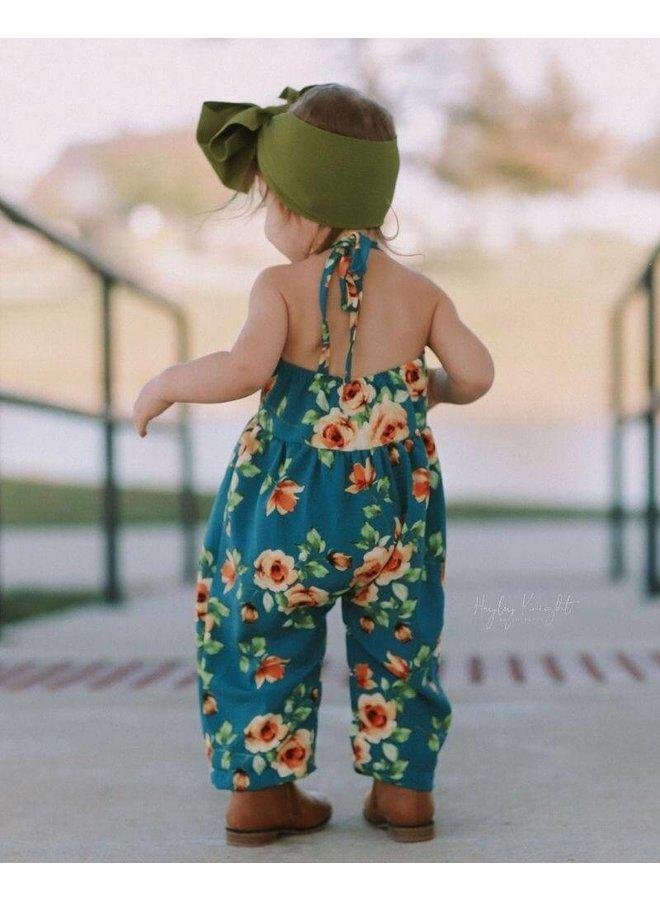 Floral Halter Strap Jumpsuit