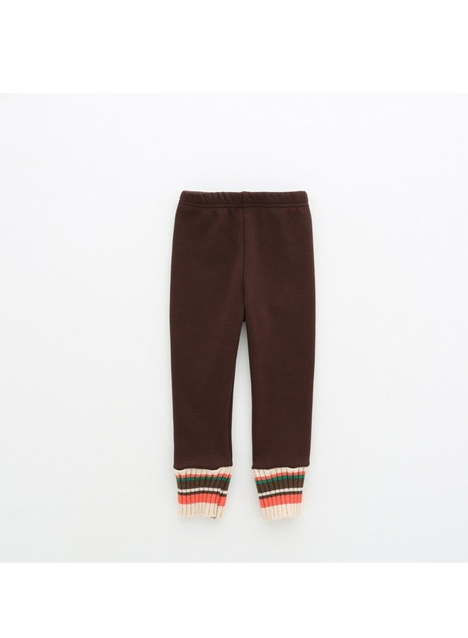 Brown Fleece Lined Leggings
