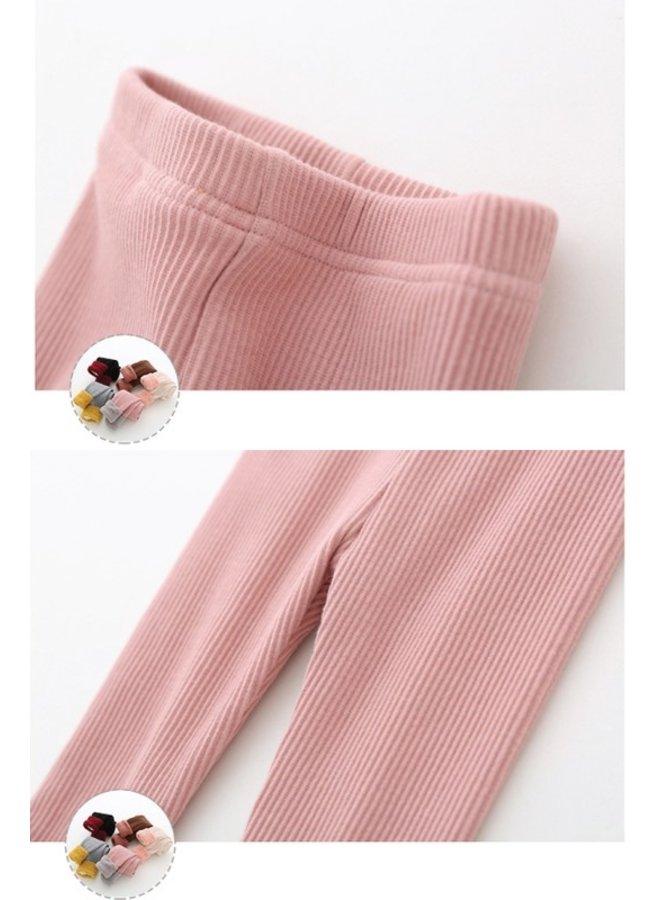 Fleece Lined Ribbed Leggings