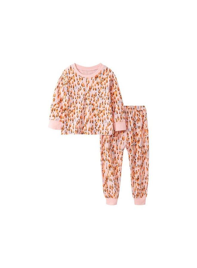 Peach Leopard PJ Set