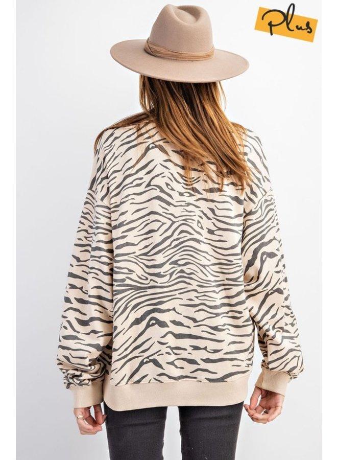 Zebra Terry Top