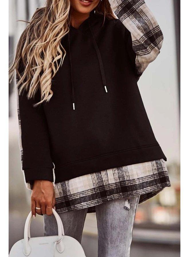 Plaid Pullover Hoodie