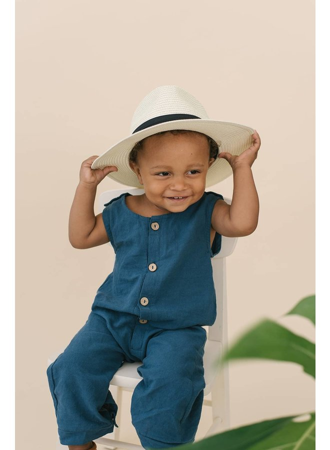 Cobalt Blue Baby Romper