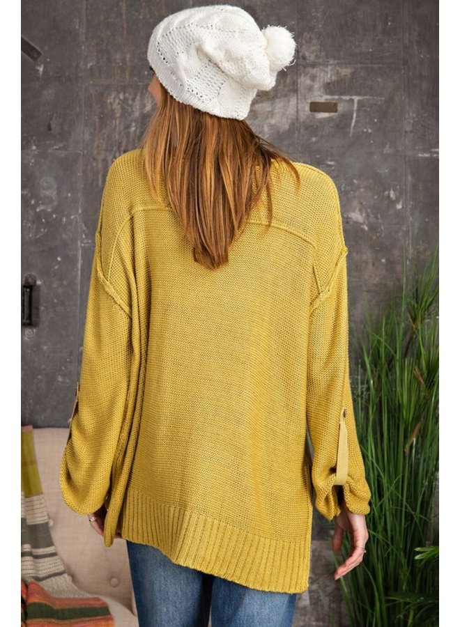 Button Front Sweater