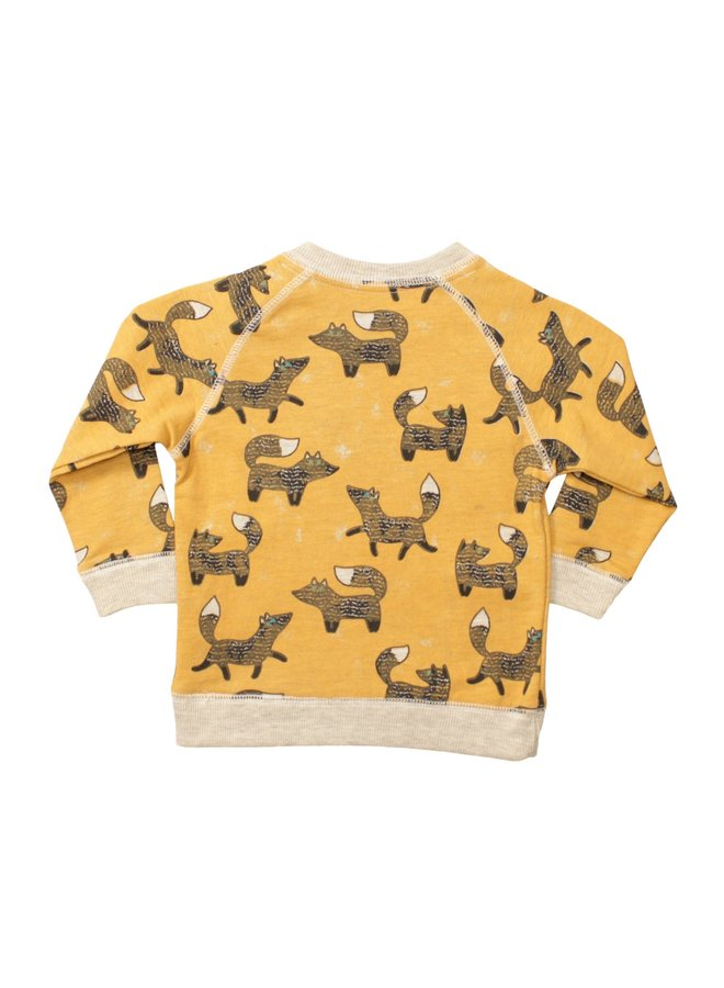 Fox Print Pullover