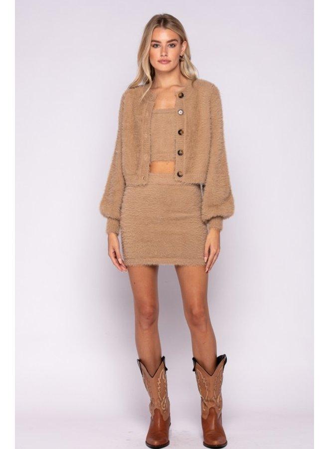 Furry Cropped Cardigan