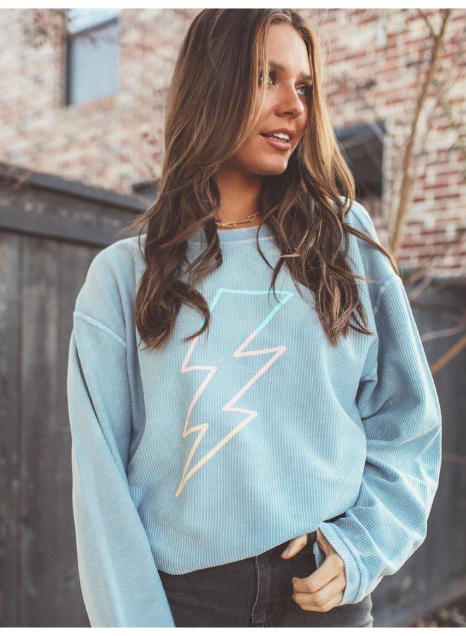 Lightning Bolt Corded Sweatshirt