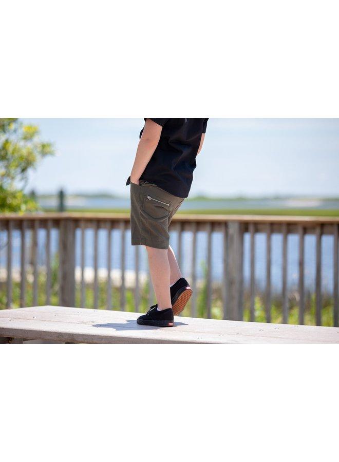 Olive Rocker Shorts