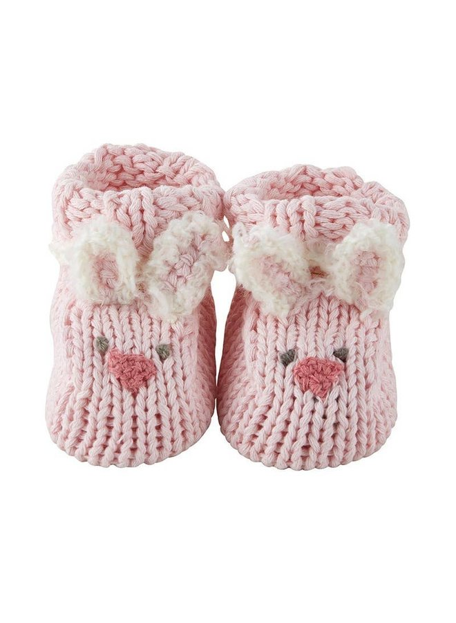 Pink Bunny Knit Booties