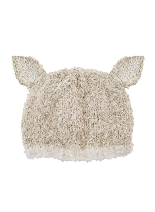 Cream Lamb Knit Hat