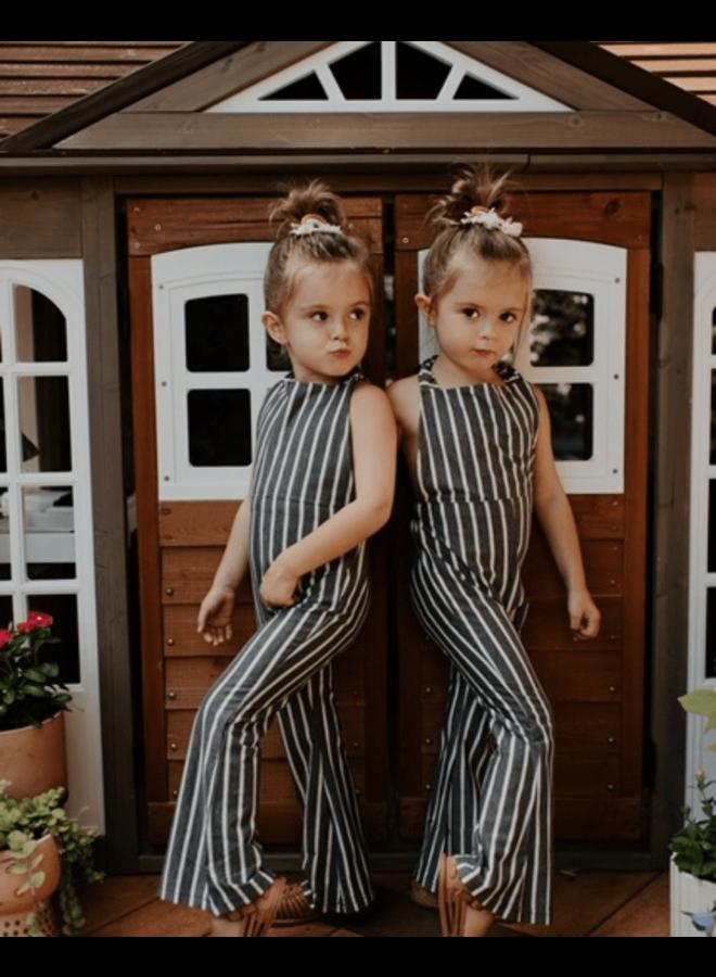 Stripe Bell Bottom Jumpsuit