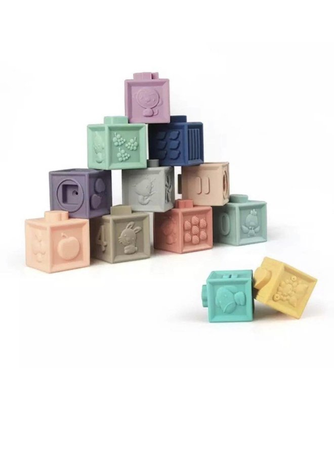 Building Blocks Teether & Bath Toy