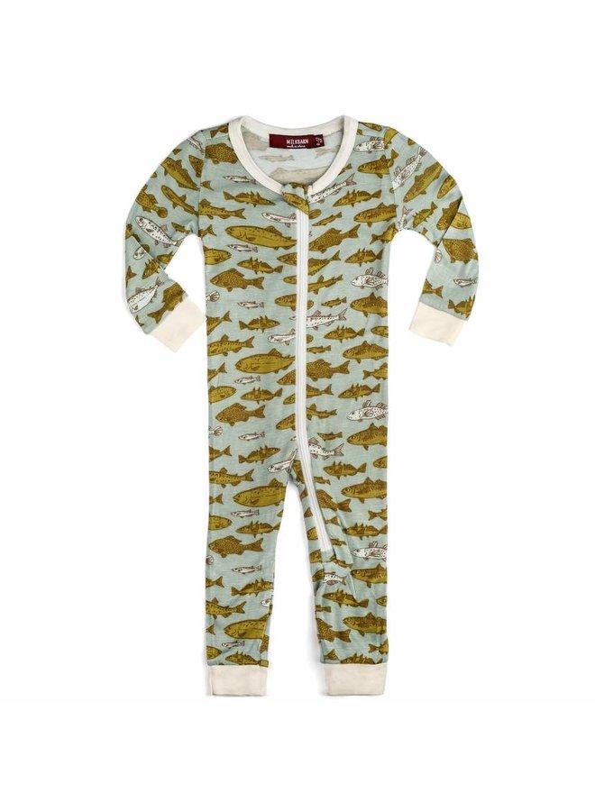 Fish Zip Pajamas