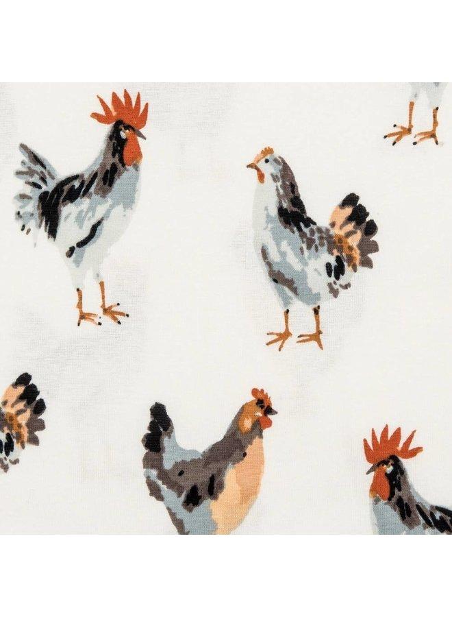 Chicken Zip Pajamas
