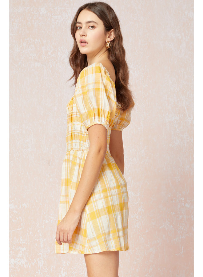 Smocked Gingham Dress