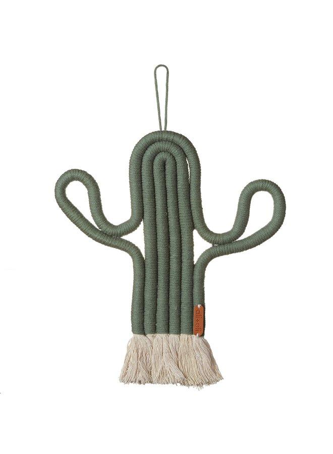 Macrame Cactus Wall Decor
