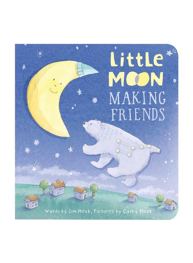 Little Moon Making Friends- Night Light/Board Book Gift Set