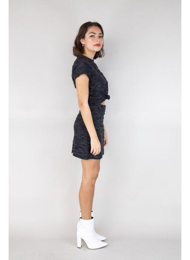 Cutout Textured Dress
