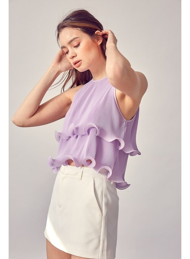 Pleated Frilly Top