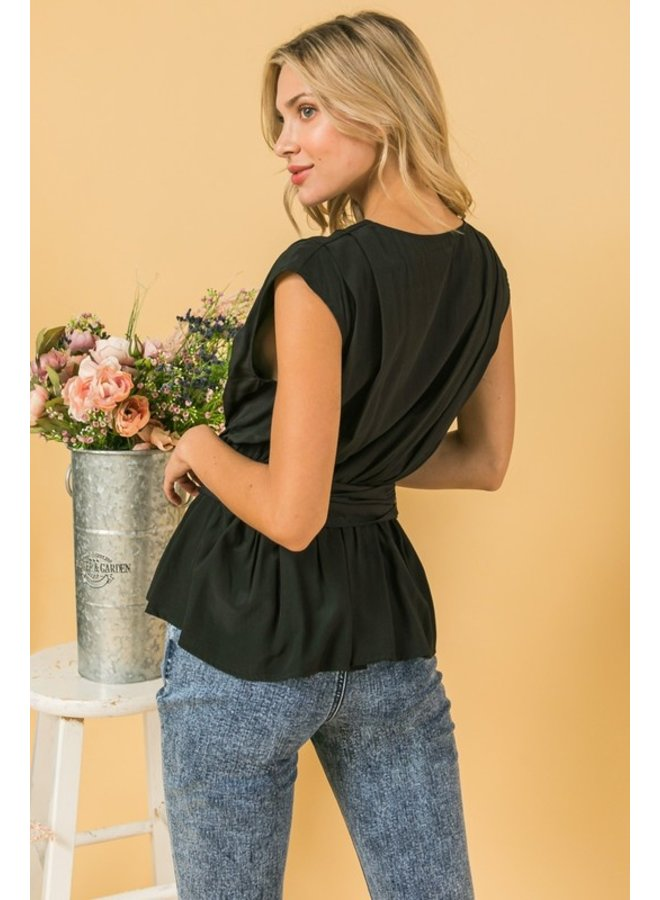 Belted Sleeveless Top
