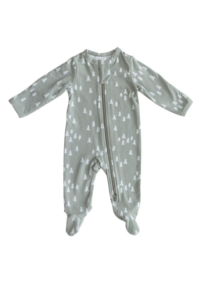 Pines Footed Zipper One-Piece