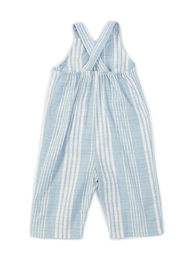 Stripe Cross Strap Jumpsuit